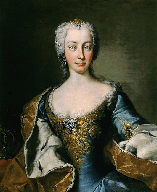 Marie Terezie zhruba mezi lety 1736 a 1740
