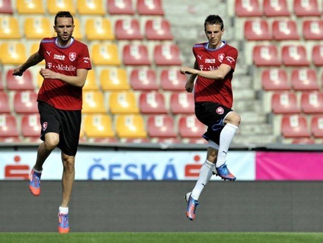 Zleva Tomáš Sivok a Vladimír Darida.