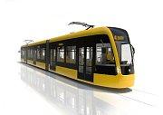 Návrh nové tramvaje pro Plzeň