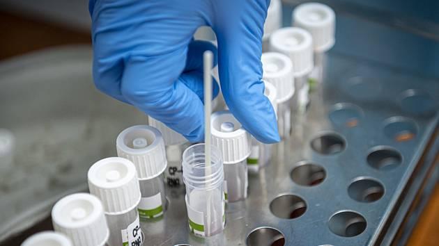 Odběry pro testy na koronavirus. Ilustrační snímek