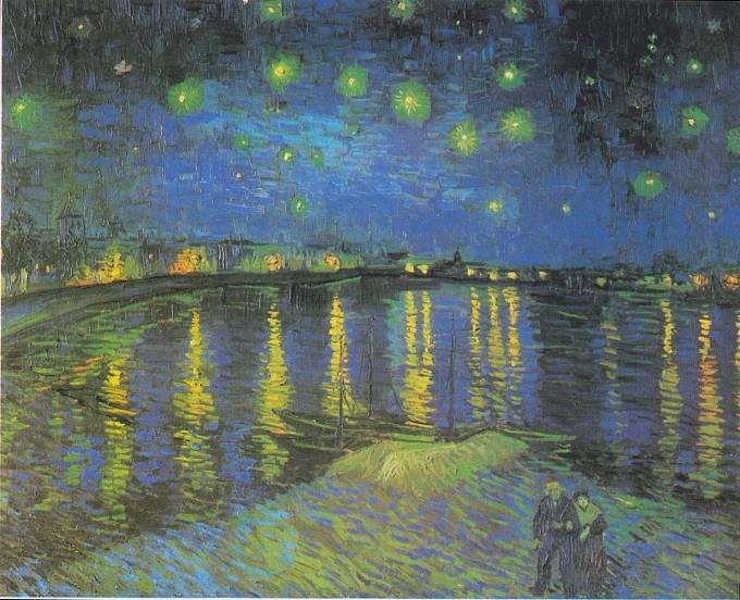 Hvězdná noc nad Rhonou
