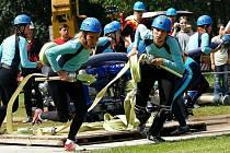 7. kolo Podkozákovské hasičské ligy 2009 v Košťálově. Nejlepší útok v kategorií žen předvedlo družstvo Bratříkova.
