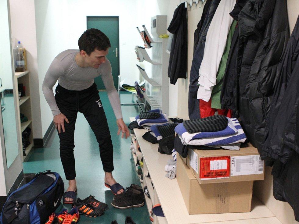 Fotbalisté Jablonce zahájili ve středu zimní přípravu. Na snímku David Lafata.