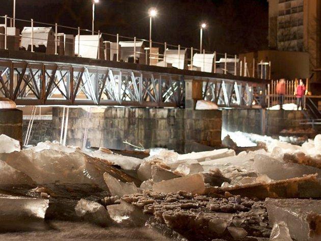 Ledová smršť v Železném Brodě.