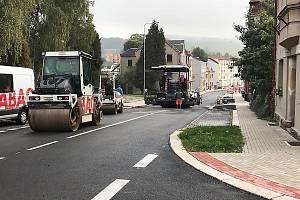 Výstavba dopravního terminálu a rekonstrukce Nádražní ulice v Rychnově u Jablonce nad Nisou.
