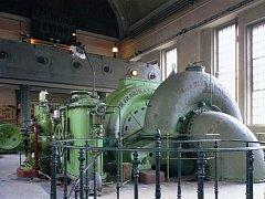 Interiér elektrárny Spálov