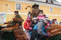 Tradiční příjezd Krakonoše do Harrachova v roce 2019.