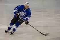 Utkání 12. kola 2. ligy ledního hokeje skupiny Sever a Střed se odehrálo 24. října na zimním stadionu v Jablonci nad Nisou. Utkaly se týmy HC Vlci Jablonec nad Nisou a HC BAK Trutnov. Na snímku je Kamil Bříška.
