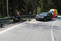 Ilustrační obrázek: i tak může skončit jízda na motocyklu.
