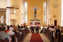 Zámecké saxofonové kvarteto v v jabloneckém kostele Nejsvětějšího Srdce Ježíšova