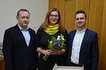 Zleva Zbyněk Duda, Jiřina Faltová a David Mánek.