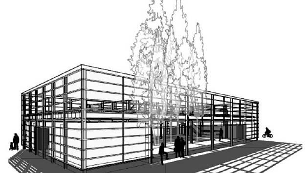 Model Slunečního pavilonu architekta Petra Stolína