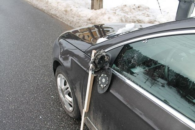 VW Passat po nehodě