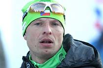 Stanislav Řezáč na startu jedné z Jizerských 50.