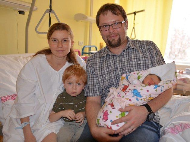 Dominika Stará přišla na svět 1. ledna v 1.17 hodin a stala se prvním miminkem narozeným nejen v Jablonci ale i v celém Libereckém kraji. Rodiče jsou z Jablonce a už mají tříletého chlapce Jakuba.