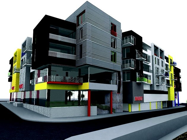 Model polyfunkčního domu k dokumentaci, kterou firma Jaklova & Jakl  Architects z Liberce připravila pro lokalitu v ulici Lipanská.