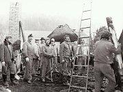 Sbor dobrovolných hasičů Loužnice. Oheň u Hrubých 1985.