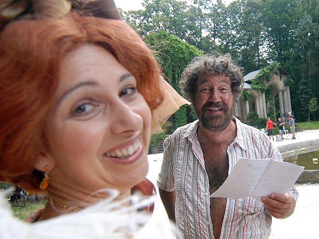 Nejkrásnější hádanka. Část pohádky Zdeněk Troška natáčel i na Sychrově.