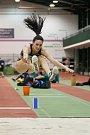 Atletický mítink Jablonecká hala 2018 proběhl 20. ledna v Jablonci nad Nisou. Na snímku je Haido Alexouli při disciplině dálka ženy.