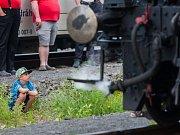 Do Tanvaldu dojela 100 let stará parní lokomotiva. Zůstane tu až do 3. července.