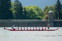 Na přehradě Mšeno se bude konat 10. ročník závodů dračích lodí.