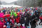 Příjezd Krakonoše do Harrachova přilákal stovky návštěvníků a místních obyvatel.