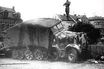 Rüdiger s kašnou na Horním náměstí přežil i konec války...