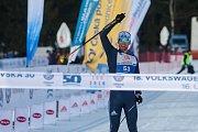 Závod v klasickém lyžování, Volkswagen Bedřichovská 30, odstartoval 16. února v Bedřichově na Jablonecku Jizerskou padesátku. Hlavní závod zařazený do seriálu dálkových běhů Ski Classics se pojede 18. února 2018. Na snímku je vítěz závodu na 30 kilometrů