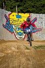 Kvalifikace závodu světové série horských kol ve fourcrossu, JBC 4X Revelations, proběhla 14. července v bikeparku v Jablonci nad Nisou. Finále se koná 15. července. Na snímku je Jaroslav Faistaver.