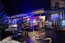 Požár licího stroje v Hrádku nad Nisou