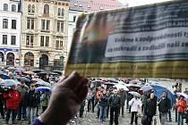 Demonstrace zasáhly Liberec i Jablonec.