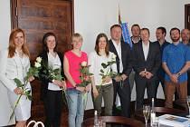 Hvězdy českého biatlonového nebe přijal na jablonecké radnici primátor Petr Beitl.
