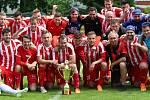 Áčko Jiskry Mšeno vybojovalo pohár divize C a má také nejlepšího střelce Nikolase Daníčka.