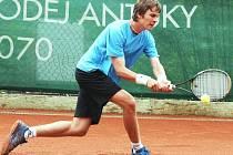Mezinárodní tenisový turnaj Futures v Jablonci nad Nisou. Norbert Gombos, Slovensko.