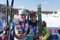 Adéla (vpravo) se v každém závodě potkává se silnými a zkušenými soupeřkami. Je mezi nimi i Švédka Terese Andersson.