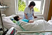 JIP v jablonecké nemocnici.