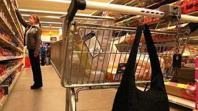 Krádež v obchodě. Ilustrační snímek.
