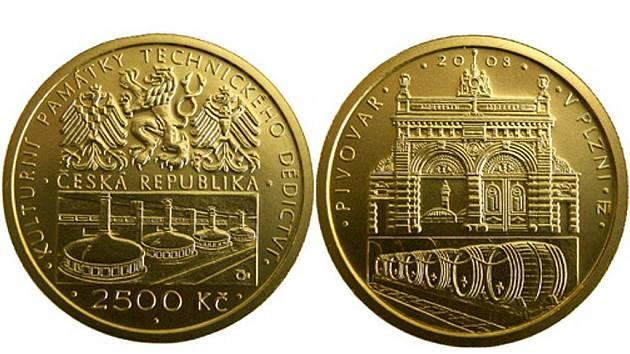 Autorem šesté zlaté mince z cyklu Kulturní památky technického dědictví, která znázorňuje pivovar v Plzni, je Zbyněk Fojtů.