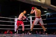 Galavečer bojových sportů, Iron Night Fight 3, proběhl 22. února v městské hale v Jablonci nad Nisou. Na snímku je Martin Valenta (vpravo) a Jan Vasůt v kategorii K1 do 91 kilogramů.
