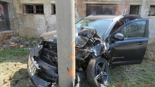 Při průjezdu zatáčky údajně řidiči vběhla do jízdní dráhy kočka, které se zalekl a strhl řízení.