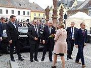 Prezident Miloš Zeman na návštěvě v Jilemnici.