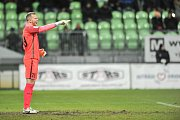 Utkání 14. kola HET ligy mezi MFK Karviná vs. FK Jablonec hrané 19. listopadu 2017 v Karviné. Valeš Roman.