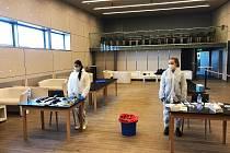 Odběrové místo antigenních testů na jablonecké Střelnici.