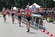 Marketa Davidová se stala mistryní republiky v bike biatlonu, v kategorii mužů zvítězil Ondřej Moravec.