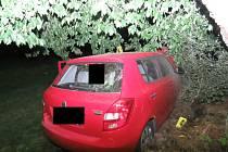 V Koberovech havaroval řidič, který nadýchal přes tři promile alkoholu.
