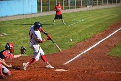 Jablonečtí baseballisté si z úvodních bojů o extraligu připsali hned dvě vítězství. Na fotce je Jonáš Výbora, nejlepší hráč tohoto zápasu a velká posila týmu.