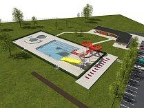 Projekt nového koupaliště v Jilemnici za 76 milionů korun, na kterém pracovalo několik let vedení města, se stavět nebude. Rozhodlo o tom místní referendum. Foto: vizualizace