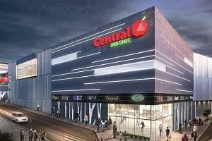 www.crestyl.com V Jablonci nad Nisou končí stavba obchodního centra Central. Vizualizace ukazuje, jak by mělo vypadat.