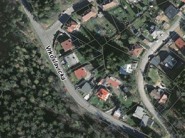 Vrkoslavická ulice v Jablonci