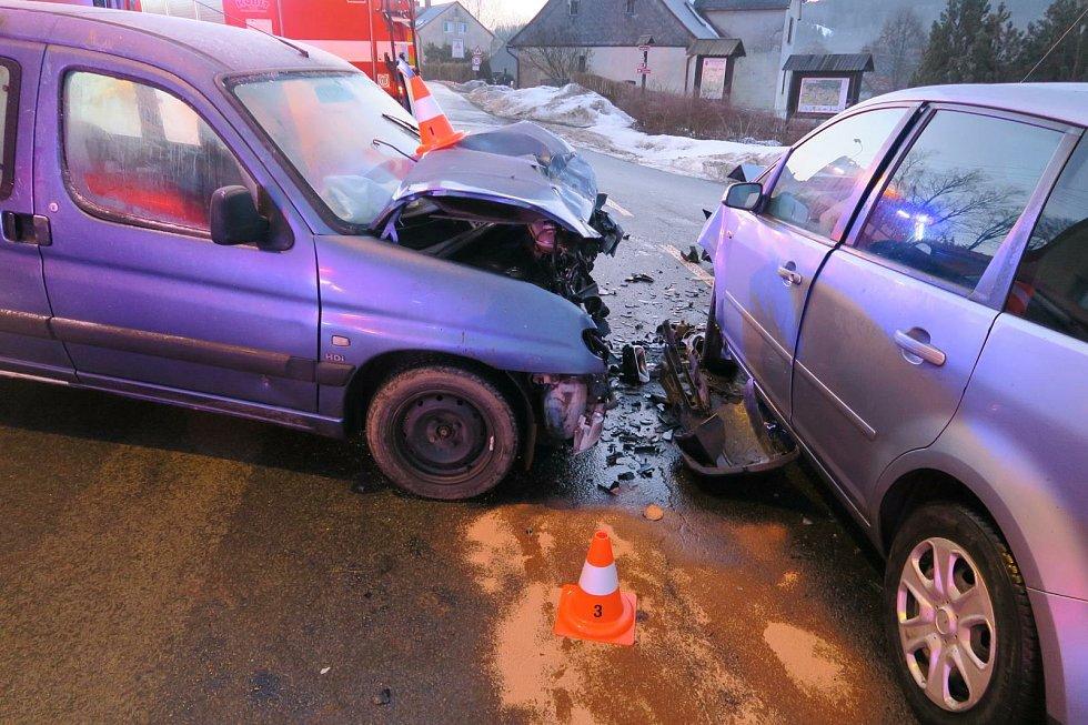 Nehoda v Nové Vsi nad Nisou.